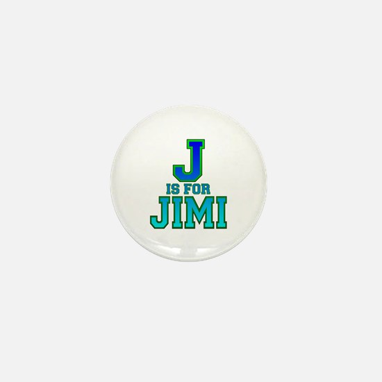 J is for Jimi Mini Button