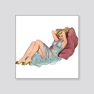 Double Pillow Girl Rectangle Sticker