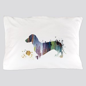 Dachshund Artwork Pillow Case