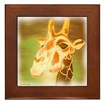 Henri The Giraffe Framed Tile