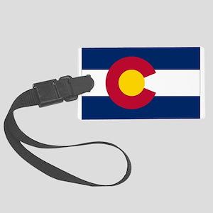 Colorado Flag Luggage Tag