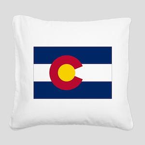 Colorado Flag Square Canvas Pillow