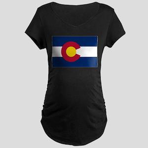 Colorado Flag Maternity T-Shirt