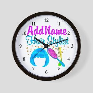 OUTRAGEOUS HAIR Wall Clock