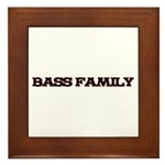 Bass Family Framed Tile