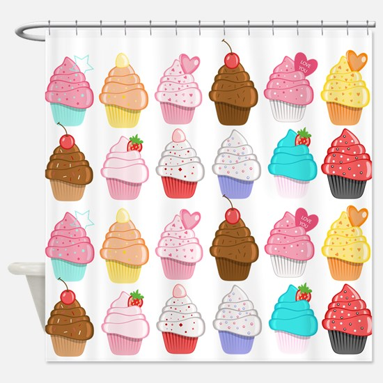 Lots Of Cupcakes Shower Curtain