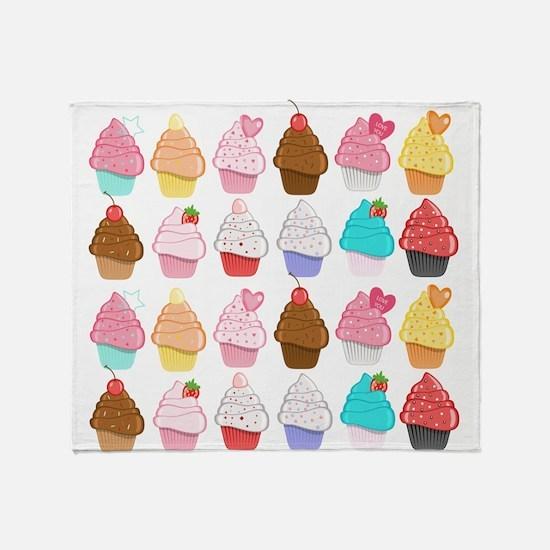 Lots Of Cupcakes Throw Blanket