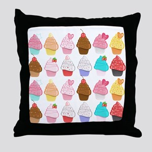 Lots Of Cupcakes Throw Pillow