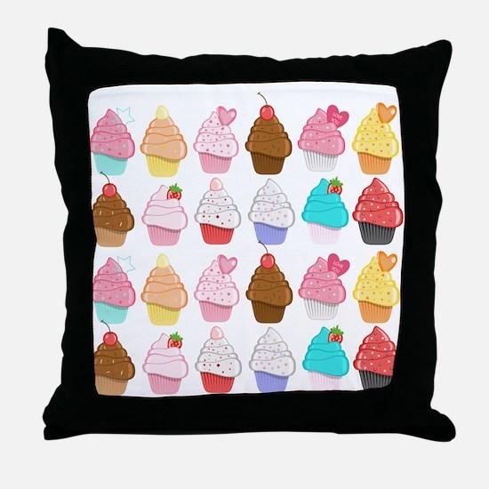 Lots Of Cupcakes Throw Pillow