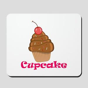 Chocolate Cherry Cupcake Mousepad