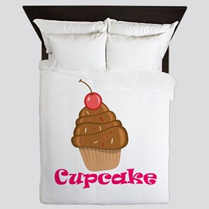 Chocolate Cherry Cupcake Queen Duvet
