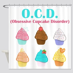 Obsessive Cupcake Disorder Shower Curtain