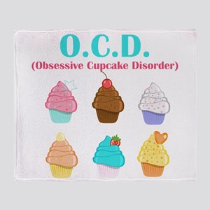 Obsessive Cupcake Disorder Throw Blanket