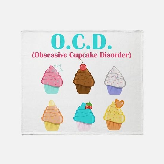 Obsessive Cupcake Disorder Throw Blanket