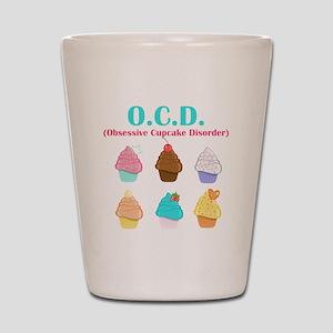 Obsessive Cupcake Disorder Shot Glass