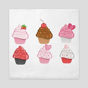 Valentine Cupcakes Queen Duvet