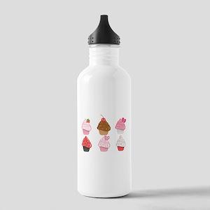 Valentine Cupcakes Sports Water Bottle