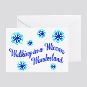 Walking in aWiccan Wonderland Greeting Cards (Pack