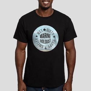 Marine Biologist Men's Fitted T-Shirt (dark)