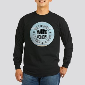 Marine Biologist Long Sleeve Dark T-Shirt