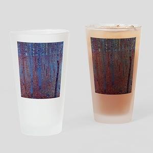 beech forest klimt Drinking Glass
