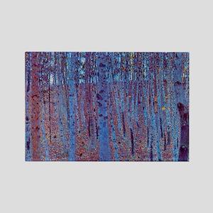 beech forest klimt Rectangle Magnet