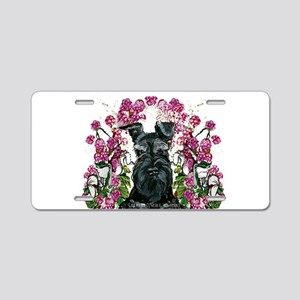 Black Schnauzer Aluminum License Plate