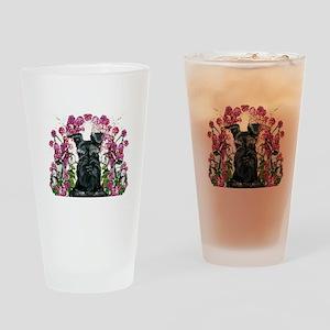 Black Schnauzer Drinking Glass