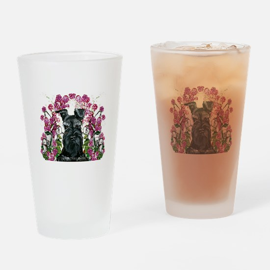 Black Schnauzer Drinking Glass