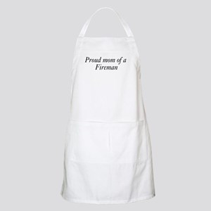 Proud Mom of a Fireman BBQ Apron