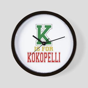 K is for Kokopelli Wall Clock