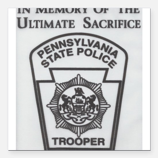 Helping Pennsylvania State Police Square Car Magne