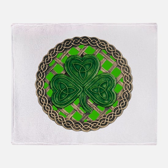 Shamrock And Celtic Knots Throw Blanket