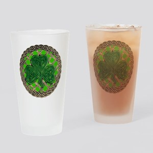 Shamrock And Celtic Knots Drinking Glass