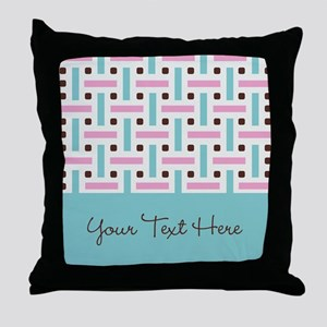 Personalized Pastel Background Throw Pillow