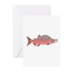 Pink Humpy Male salmon f Greeting Cards (Pk of 10)