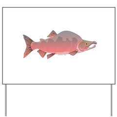 Pink Humpy Male salmon f Yard Sign