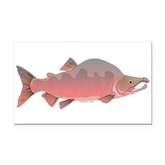 Pink Humpy Male salmon f Rectangle Car Magnet