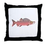 Pink Humpy Male salmon f Throw Pillow