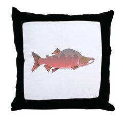 Pink Humpy Male salmon f Throw Pillow