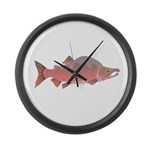 Pink Humpy Male salmon f Large Wall Clock