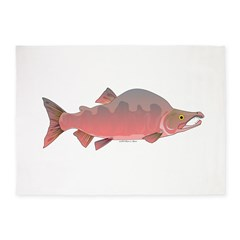 Pink Humpy Male salmon f 5'x7'Area Rug