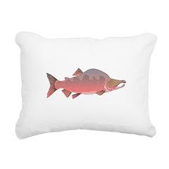 Pink Humpy Male salmon f Rectangular Canvas Pillow