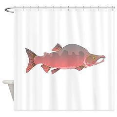 Pink Humpy Male salmon f Shower Curtain