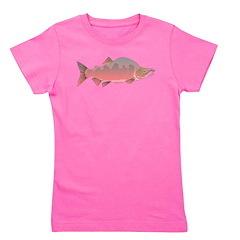 Pink male Salmon c Girl's Tee