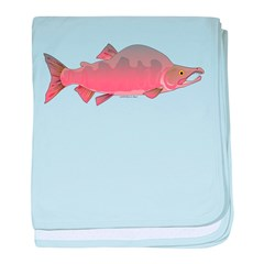 Pink male Salmon c baby blanket