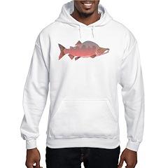 Pink male Salmon c Hoodie