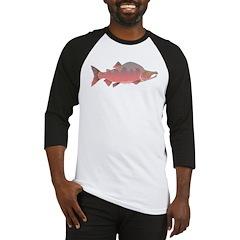 Pink male Salmon c Baseball Jersey