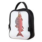Pink Humpy Salmon v Neoprene Lunch Bag