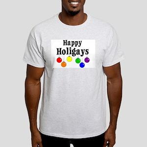 Happy Holigays Ash Grey T-Shirt